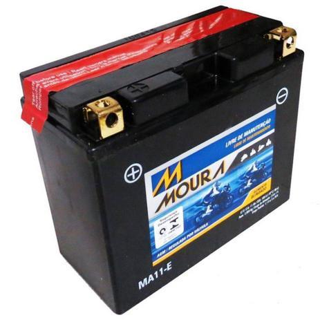 Imagem de Bateria Moto Ma11-e Moura 11ah Honda VT Shadow Hyosung GV650 SE ST7 Yamaha Dragstar