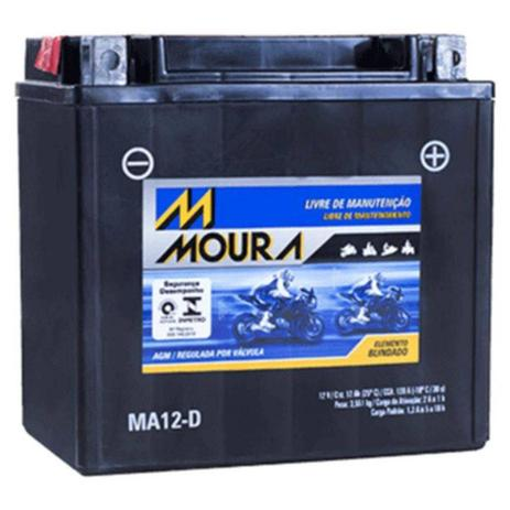 Imagem de Bateria Moto Ma12-d Moura 12ah Harley Davidson 883 R Iron 1200 XL XLH Sportster