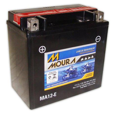 Imagem de Bateria Moto Ma12-e Moura 12ah Yamaha Venture Lite MP RS YFM 66R Raptor YZ F1000R Phazer