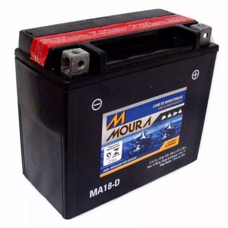 Imagem de Bateria Moto Ma18-d Moura 18ah Buell M2 Cyclone S3 S3T Thunderbolt Kymco MXU500 MXU700