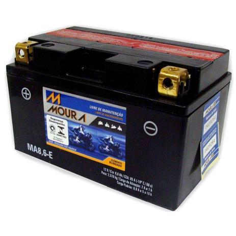 Imagem de Bateria Moto Ma8,6-e Moura 8,6ah Honda TR 200 Fat Cat VT 600C CD Shadow Deluxe