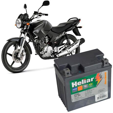 Imagem de Bateria Moto Ybr 125 Heliar HTZ6L PowerSports Selada 5Ah 12V