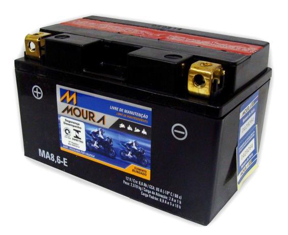Imagem de Bateria Moura Moto Ma8,6-E Hornet / Cbr 1000/ R1 R6 Bmw
