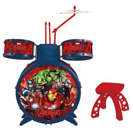 Imagem de Bateria Musical Infantil Marvel - Vingadores Ultimato