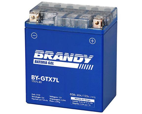 Imagem de Bateria Nano Gel BY-GTX7L Dafra Speed 150 Brandy 0102