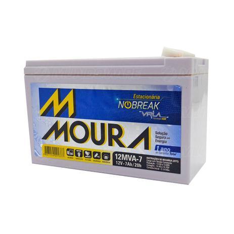 Imagem de Bateria para Nobreak 12V 7Ah Estacionária Tecnologia VRLA AGM Moura