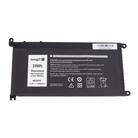 Imagem de Bateria para Notebook Dell Inspiron 15 P58F  Lítio-Polímero - Marca bringIT