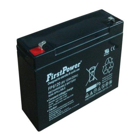 Imagem de Bateria selada fp6120 6v 12ah first power
