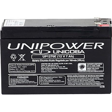 Bateria Selada p  Nobreak 12V 7AH Unipower UP1270E - Bateria e fonte ... 4606cefc97108