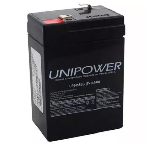 Imagem de Bateria unipower 6v 4.5ah up645seg moto elétrica, brinquedos