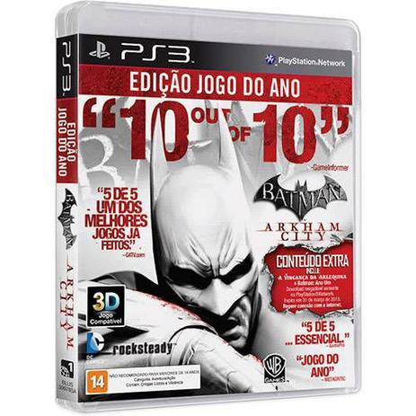 Batman Arkham City - Goty Edition - PS3 - Wb games - Jogos PS3 ... 6f00f7ddd8c