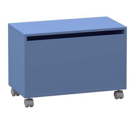 Imagem de Baú Infantil Madeira Menino Com Tampa Dobradiça 43x75Cm Azul