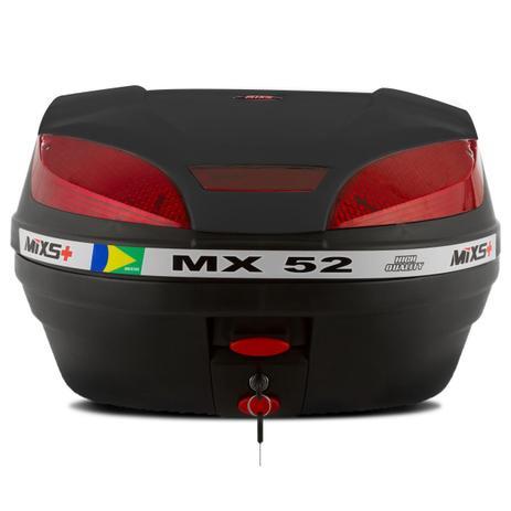 Imagem de Bau Moto Bauleto Mixs 52 Litros Bagageiro MX52 Universal Com Chave