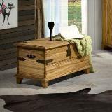 Imagem de Baú rústico win - madeira maciça - cera carvalho
