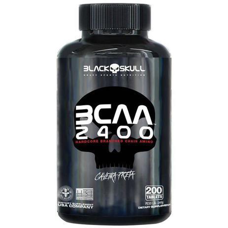 Imagem de Bcaa Aminoácido Caveira Preta 2400Mg 200 Tabletes Black Skull