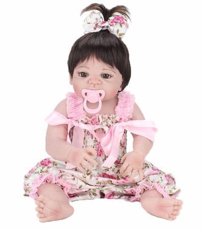 973877b449 Bebê Reborn Boneca Reborn Menina Silicone Realista - Boneca Reborn ...