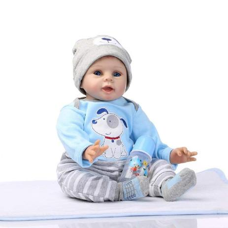 24c95006e Bebe Reborn Menino 55 Cm De Silicone Real - Recem Nascido - Npk ...