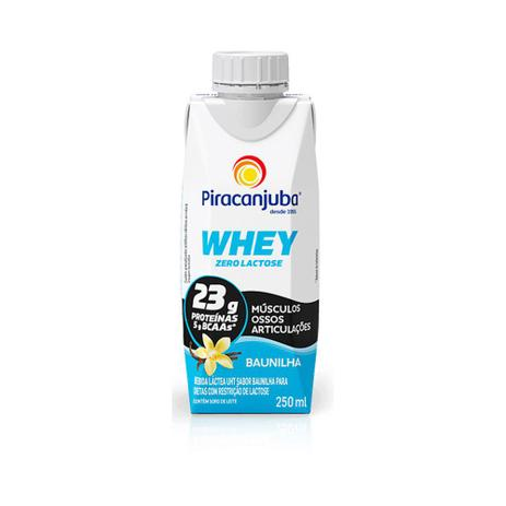 Imagem de Bebida Láctea Piracanjuba Whey 0 Lactose Baunilha 250ml