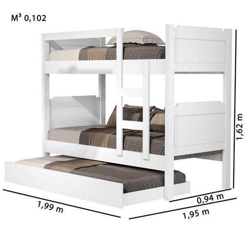 Imagem de Beliche com cama auxiliar Star