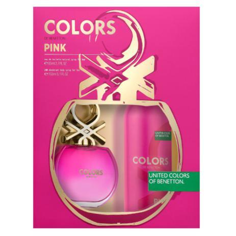 b86f04e4afa Benetton Colors Pink Kit - EDT 80ml + Desodorante - Perfume Feminino ...