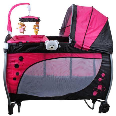 Imagem de Berço Cercado Balanço  Baby Style - Rosa