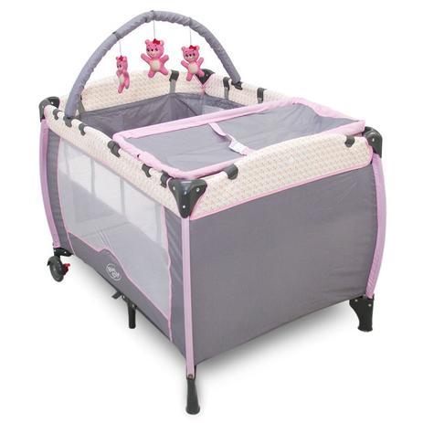 Imagem de Berço Cercado Desmontável Plus Rosa Jardim Baby Style