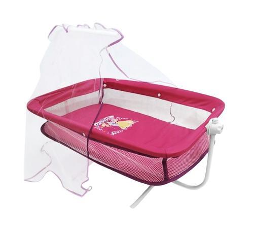 Imagem de Berço com Mosquiteiro para Boneca  - Pink
