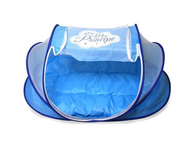Imagem de Berço Mosquiteiro Azul Portátil Príncipe - Unik Toys