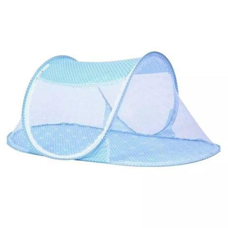 Imagem de Berço Mosquiteiro Tenda Portátil Compacto Com Zíper Azul