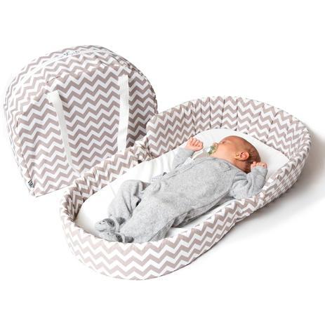 Imagem de Berço portátil chevron para bebê - dican
