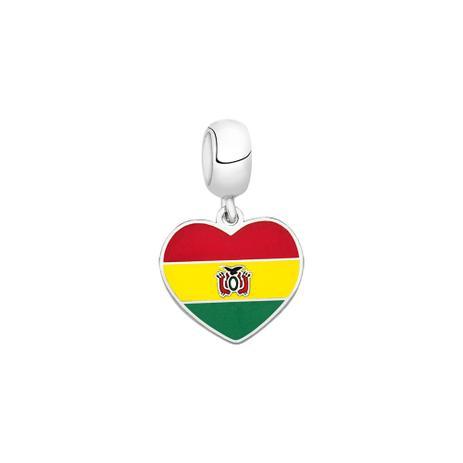 Berloque Bandeira da Bolívia de Prata Moments - Joia em casa ... fb3e80b6ce93a