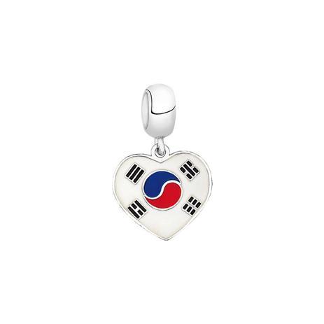 Berloque Bandeira da Coréia do Sul de Prata Moments - Joia em casa ... a888cb73b919d