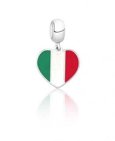05a78559b3314 Berloque Bandeira da Itália - Céu de prata - Pingente - Magazine Luiza