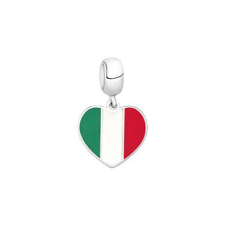Berloque Bandeira da Itália de Prata Moments - Joia em casa ... e3be63a1a218b