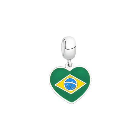Berloque Bandeira do Brasil de Prata Moments - Joia em casa ... d02799d98c04a