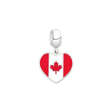 Berloque Bandeira do Canadá de Prata Moments - Joia em casa ... a09cffb85a580