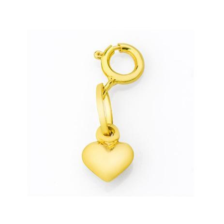 Berloque Pingente de Ouro 18k Coração Liso PI17543 - Joiasgold ... 31ea736653