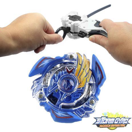Imagem de Beyblade Victory Valkyrie.b.v B-34 - Azul + Lançador + Grip