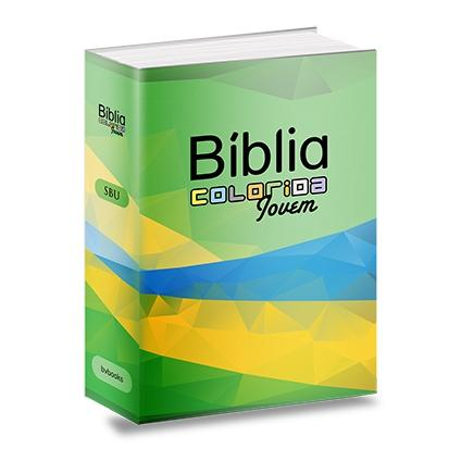 Imagem de Bíblia colorida jovem - capa brasil