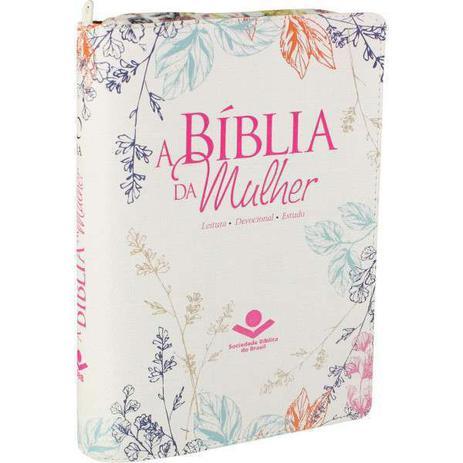 Imagem de Bíblia da Mulher Tecido Média com Zíper  Florida  ARA