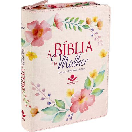 Imagem de Bíblia da Mulher Tecido Média com Zíper  Florida  ARC
