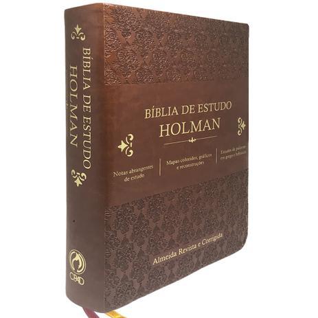 Imagem de Bíblia de Estudo Holman Marrom