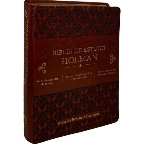 Imagem de Bíblia de Estudo Holman marrom - Cpad