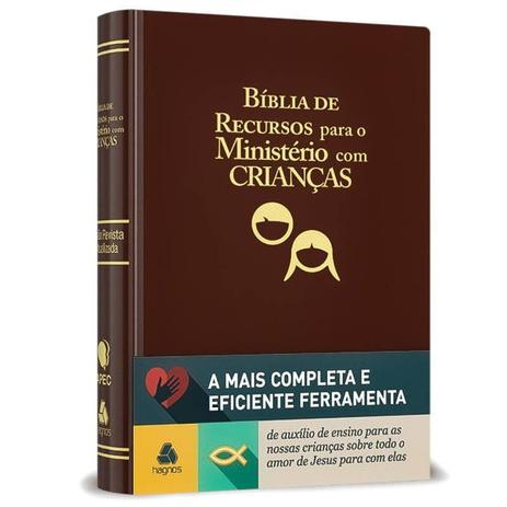 Imagem de Bíblia de Recursos para o Ministério com Crianças - Marrom Luxo