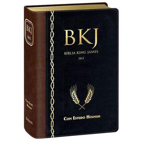 Imagem de Bíblia King James de estudo Holman - Marrom c/ Preta
