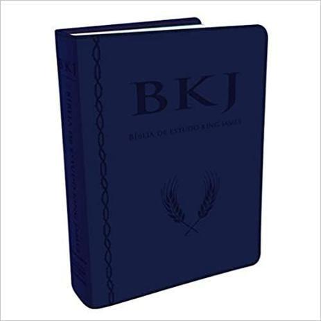 Imagem de Bíblia King James Fiel 1611 Estudo Holman - Pu Azul - 7713824