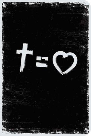 Imagem de Bíblia NVT 960 Cross Equals Love B&W - Letra Normal