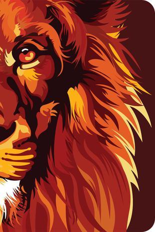 Imagem de Bíblia NVT 960 Lion Colors Fire - Letra Normal