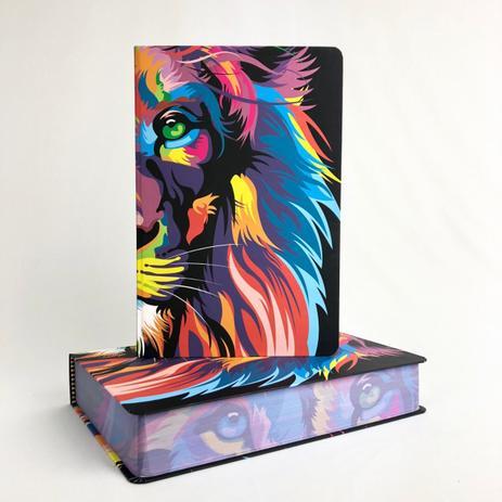 Imagem de Bíblia NVT - Leão Colorido - Lion color - Letra Grande - MC