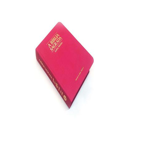 Imagem de Bíblia pequena letra média rosa